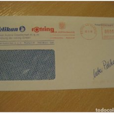 Sellos: PELIKAN ROTRING BRUNN AM GEBIRGE 1996 POSTAGE PAID CANCEL COVER AUSTRIA COMIC CO. Lote 206099135