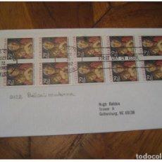 Sellos: YVERT 2122 BELLINI MADONNA KANSAS CITY 1992 FDC CANCEL COVER USA CHRISTMAS NOEL. Lote 206106486