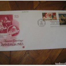 Sellos: YVERT 1505/6 NICCOLINI-COWPER MADONNA SANTA CLAUS 1983 FDC CANCEL COVER USA CHRI. Lote 206106501