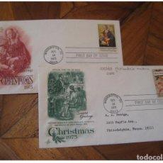 Sellos: YVERT 1067/8 GHIRLANDAIO MADONNA WASHINGTON 1975 FDC CANCEL 2 COVER USA CHRISTMA. Lote 206106531