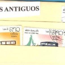 Sellos: LOTE DE SELLOS DE LAOS. SERIE COCHES ANTIGUOS. Lote 206495656