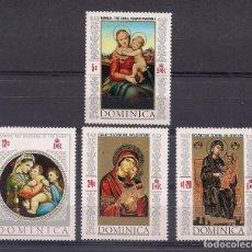 Sellos: DOMINICA 1968 - VIRGENES DE LA ESCUELA BIZANTINA - YVERT Nº 236**+ 3 SELLOS DE LA HOJITA BLOQUE. Lote 206522070