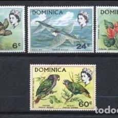 Sellos: DOMINICA 1970 - FAUNA Y FLORA - YVERT Nº 292/295**. Lote 206522212