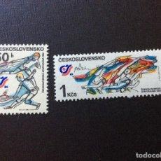 Sellos: CHECOSLOVAQUIA Nº YVERT 2632/3*** AÑO 1985. DEPORTE. SPARTAKIADAS NACIONALES. Lote 206835050
