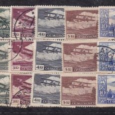 Sellos: HP6-9- TCHECOSLOVAQUIA AÉREOS 1930 . YT 10/ 17 X 3 SERIES COMPLETAS. Lote 206997372