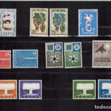 Sellos: LOTE DE 15 SELLOS SUELTOS DEL TEMA EUROPA, AÑOS 1957/60. Lote 207027197