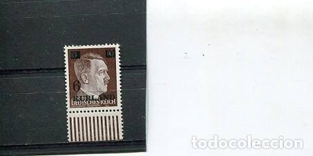SELLOS LETONIA OCUPACION ALEMANA ALENAMIA AÑO 1945 HITLER SEGUNDA GUERRA MUNDIAL 710 A KURLAND (Sellos - Extranjero - Europa - Otros paises)