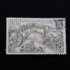 Sellos: CHECOSLOVAQUIA, 80 H, CESKY KRUMLOV, AÑO 1957. SIN USAR. Lote 210338562