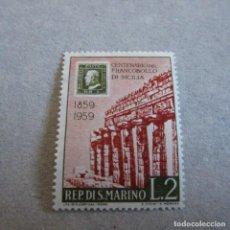 Sellos: SAN MARINO 1959, YVERT Nº 473**, CENTENARIO DEL SELLO DE SICILIA. Lote 210477045