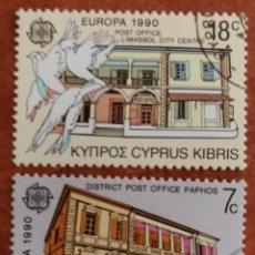 Timbres: CHIPRE, EUROPA CEPT 1990 USADO (FOTOGRAFÍA REAL). Lote 213728528