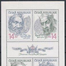 Sellos: REPUBLICA CHECA Nº 106/9, REYES DE LA DINASTIA LUXEMBURGO, NUEVO ***. Lote 214270912