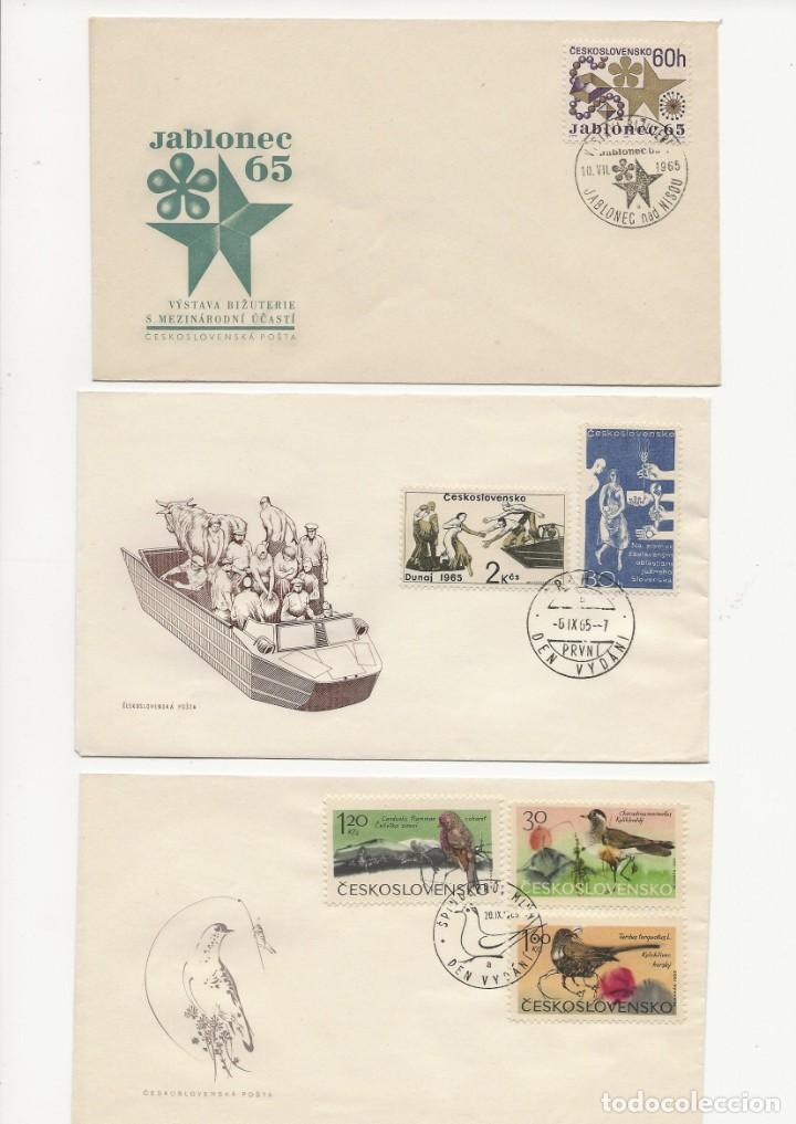 LOTE TRES S.P.D. CHECOSLOVAQUIA 1965 (Sellos - Extranjero - Europa - Otros paises)