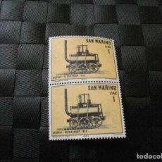 Sellos: BONITO BLOQUE DE 2 SELLOS DE LA REPUBLICA DE SAN MARINO EL DE LA FOTO VER TODOS MIS LOTES DE SELLOS. Lote 217516391