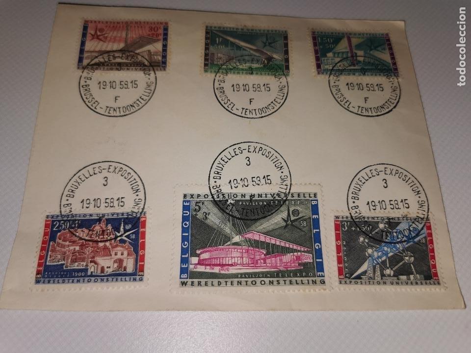 SELLOS BRUXELLES EXPOSITION TENTOONSTELLING AÑO 1958 (Sellos - Extranjero - Europa - Otros paises)