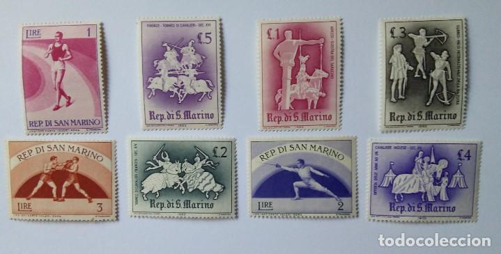 LOTE DE 8 SELLOS DE SAN MARINO 1963 (Sellos - Extranjero - Europa - Otros paises)