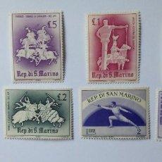 Sellos: LOTE DE 8 SELLOS DE SAN MARINO 1963. Lote 220266737