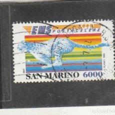 Sellos: SAN MARINO 1995 - YVERT NRO. 1432 - POSTA CELERE - USADO. Lote 222393577