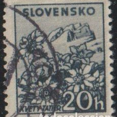 Sellos: ESLOVAQUIA 1944 SCOTT 104 SELLO º MONTAÑAS FLORA KVETY TATIER MICHEL 143 YVERT 113 STAMPS TIMBRE. Lote 222465686