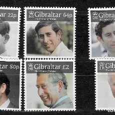 Sellos: GIBRALTAR Nº 1879 AL 1884 (**). Lote 222669320