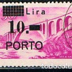 Sellos: ISTRIA (OCUPACION DE YUGOESLAVIA) TASA IVERT Nº 10, PUENTE, USADO. Lote 224635718