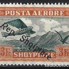 """Sellos: ALBANIA 1927 - SELLO DE 1925 SOBRECARGADO """"REP. SHQIPTARE"""", AÉREO - MH*. Lote 225751555"""