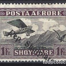 """Sellos: ALBANIA 1927 - SELLO DE 1925 SOBRECARGADO """"REP. SHQIPTARE"""", AÉREO - MH*. Lote 225751625"""