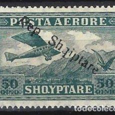 """Sellos: ALBANIA 1927 - SELLO DE 1925 SOBRECARGADO """"REP. SHQIPTARE"""", AÉREO - MH*. Lote 225751710"""
