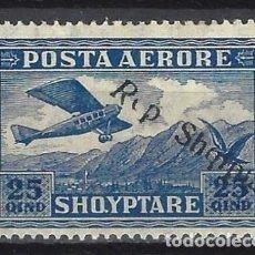 """Sellos: ALBANIA 1927 - SELLO DE 1925 SOBRECARGADO """"REP. SHQIPTARE"""", AÉREO - MH*. Lote 225751760"""
