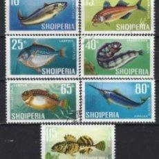 Sellos: ALBANIA 1967 - FAUNA, PECES, S.COMPLETA - USADOS. Lote 225752690