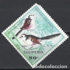 Sellos: ALBANIA 1968 - AVES, MITO - USADO. Lote 225753130