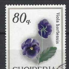 Sellos: ALBANIA 1969 - FLORES, PENSAMIENTO - USADO. Lote 225753215