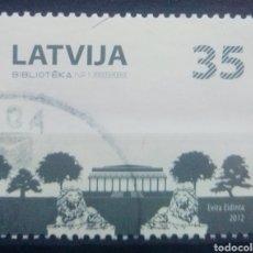 Sellos: LETONIA 2012 BIBLIOTECA NACIONAL SELLO USADO. Lote 227109555