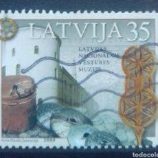 Sellos: LETONIA 2009 MUSEO NACIONAL SELLO USADO. Lote 227109570