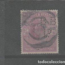 Sellos: LOTE C-SELLO GRAN BRETAÑA TALADRO MAS DE 200 EUROS CATALOGO. Lote 230864660