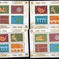 Sellos: SERBIA Y MONTENEGRO, 2005, MICHEL BL59-BL60 A + B. Lote 231472850