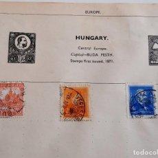Sellos: HUNGARY LOTE DE SELLOS STAMP. Lote 232519935