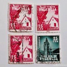 Sellos: VALENCIA LOTE DE SELLOS STAMP. Lote 233041010
