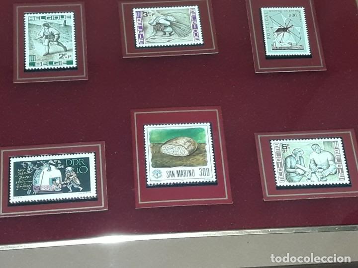 Sellos: Cuadro colección 6 antiguos sellos con moldura y cristal de protección, Marca Rosendo. - Foto 7 - 235290480