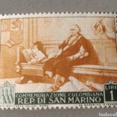 Sellos: SELLO SAN MARINO COLON CONMEMORAZIONE COLOMBIANA. Lote 236792525