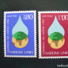 Sellos: NACIONES UNIDAS GINEBRA Nº YVERT 64/5*** AÑO 1977. CONFERENCIA DE LA ONU SOBRE EL AGUA. Lote 237587555