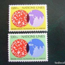 Sellos: NACIONES UNIDAS GINEBRA Nº YVERT 73/4*** AÑO 1978. ERRADICACION MUNDIAL DE LA VIRUELA. Lote 237588410