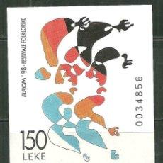 Sellos: ALBANIA 1997 HB IVERT 87 *** EUROPA - FESTIVALES NACIONALES. Lote 238475900