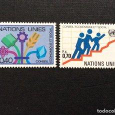 Sellos: NACIONES UNIDAS GINEBRA Nº YVERT 94/5*** AÑO 1980. CONSEJO ECONOMICO Y SOCIAL. Lote 239722580