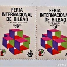 Sellos: 1969 FERIA BILBAO LOTE DE SELLOS STAMP. Lote 240350205