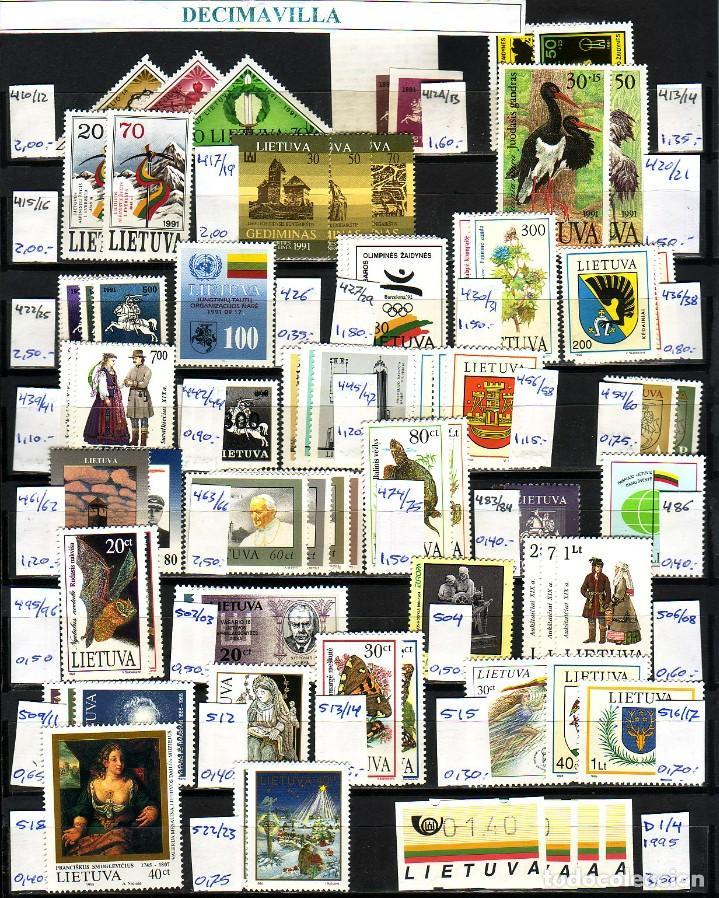 Sellos: LOTE564, LITUANIA, INDEPENDENCIA, PRIMERAS EMISIONES - Foto 2 - 241518580