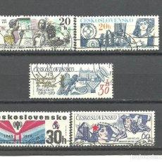 Sellos: CHECOSLOVAQUIA 1979 - YVERT NRO. 2324-27 - USADO. Lote 241528480
