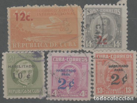 LOTE M- SELLOS CUBA HABILITADOS (Sellos - Extranjero - Europa - Otros paises)