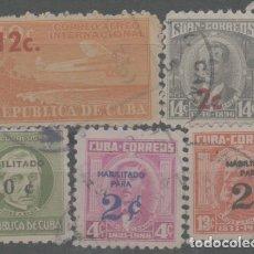 Sellos: LOTE M- SELLOS CUBA HABILITADOS. Lote 242280685