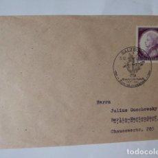 Sellos: CARTA SELLADA CONMEMORATIVA AMADEO MOZART 1941. Lote 242342885