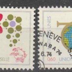 Sellos: SELLOS USADOS DE NACIONES UNIDAS GINEBRA 1974, YT 39/ 40. Lote 243877250
